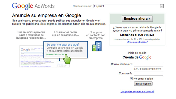 Usar extensiones Google Adwords