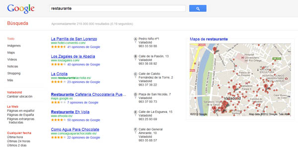 Usar Google places